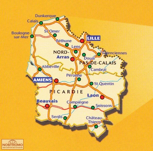 Carte Du Nord Pas De Calais Picardie